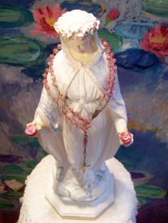 Very beautiful Antique French Our Lady statue, from ciel de lit, now on ebay uk item number 151335511532