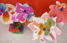 DIY Paper Blossoms & Vase | CharlotteParent.com #kids #crafts