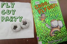 First Chapter Book Club: Fly Guy : library makers -- cute pass the fly craft to try for FF
