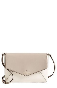 kate spade new york 'cedar street - large monday' crossbody bag | An envelope-style crossbody bag crafted from lustrous crosshatched leather is furnished with an adjustable strap for a classic, downtown-chic look.