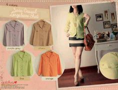 BL 1520 Zara casual shirt Fabric Twistcon  IDR 63000