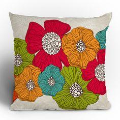 DENY Designs Valentina Ramos Flowers Throw Pillow | AllModern
