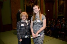 Ann Gloag OBE and Emily Gartshore, our highly commended in the Outstanding Student Nurse Category