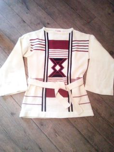 Vintage 70's Bell Sleeve Belted Sweater by by JulesCristenVintage