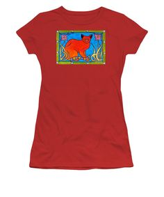 Cats For Kids Apparel and Gifts Cat Art tshirt by #dorahathazi For kids, for teens, cat painting, for girls, cat, art, cats, whimsical, bindi, lily, quirky, colorful, gatos, kitty, kitten, feline fantasy, pet, pets, painting, art, watercolor, beautiful, artwork, sweet, funny, meow, pet, pets, playful, bright, lovely, lovable, catlover, catlovers, cute cat, cute kitty, colorful cat, cat and flower, cat with flowers, sweet cat, lovely cat, nouveau, Dora Hathazi Mendes