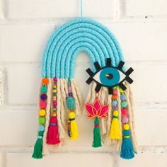 Mobiles, Blue Lotus, Yarn Bombing, Camping Crafts, Wooden Beads, Evil Eye, Wall Colors, Embroidery Patterns, Craft Projects