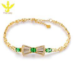 Solid 18K Yellow Gold Natural 1.26ct Tsavorite & Diamond Bracelet Fine Jewellery