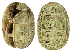 """https://flic.kr/p/e7NLTt   Sadigh Gallery's Ancient Egyptian Limestone Scarab   Carved light green limestone heart scarab, once placed on the throat, chest, or heart of the mummy. Some were worn by the deceased on a necklace, or mounted in gold settings as a pectoral. Heart scarabs provided the bearer with the assurance that at the final judgment as depicted in the Book of the Dead, the bearer would be found """"True of Voice"""" and accepted into the eternal afterlife by the God Osiris...."""
