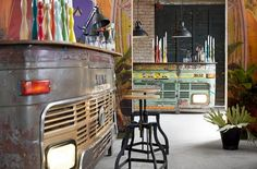 Keep your friends staying well past last orders with the incredible reclaimed Tata Truck bar table, complete with working headlights! Custom Home Bars, Bars For Home, Drinks Cabinet, Industrial Chic, Old Trucks, Upcycled Furniture, Shabby Chic, Inspiration, Alter