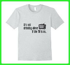 Mens It's Not Drinking Alone-Beer Drinker Alcohol Gamer T-shirt Small Heather Grey - Gamer shirts (*Amazon Partner-Link)