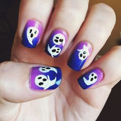 Ghost Nails | Halloween Nail Art That's Vaguely Appropriate and Freakishly Pretty | Bustle