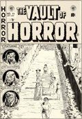 Original Comic Art:Covers, Johnny Craig Vault of Horror #33 Cover Original Art (EC,1953)....