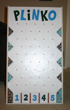 Homemade plinko foam board with dixie cups and a ping pong ball plinko board pdf plans solutioingenieria Choice Image
