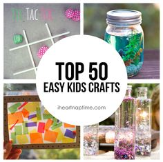 50 Easy Kids Crafts -a great round up of crafts to keep your kids busy all summer long!