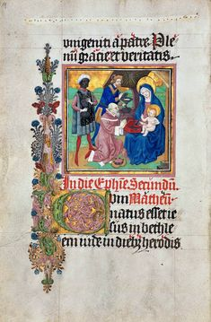 A leaf with Adoration of the Magi from the Lectionary from the Dominican Monastery in Cologne by follower of Stefan Lochner, after 1461 (PD-art/old), Biblioteka Czartoryskich