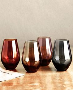 Lenox Stemware, Tuscany Harvest Collection, Sets of 4 - Casual Dining - Kitchen - Macy's