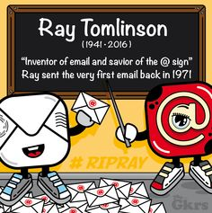 Paying tribute to the Inventor of email and savior of the @ sign! #RayTomlinson a computing legend is dead at 74!  #RIPRAY