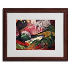 The Dream by Franz Marc Matted Framed Painting Print