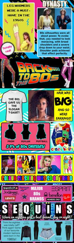 1980s Fashion Infographic | 80s Fashion | 80s Clothing