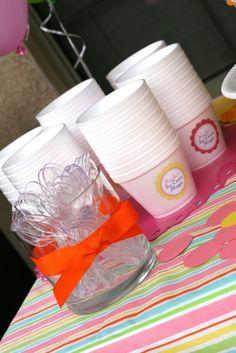 Ice Cream Shoppe Labels  Printable Birthday Party by tomkatstudio, $8.50