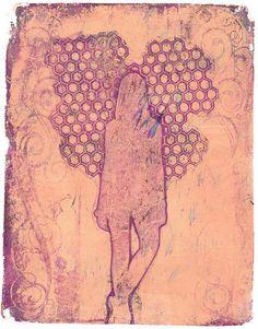 art journal, mixed media inspiration. Gelli plate prints