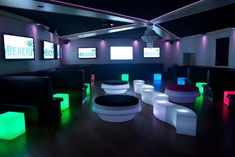 8 Glow in the Dark Theme Ideas - LED Light Up Furniture at The Sands at Atlantic Beach NY - mazelmoments.com