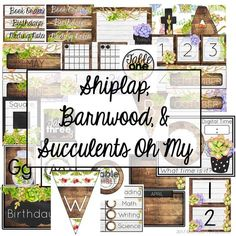 Shiplap, Barnwood, and Succulents Oh My! -Farmhouse Watercolor Decor - Shiplap, Barnwood, and Succulents Oh My! 3rd Grade Classroom, Classroom Setup, Classroom Design, Future Classroom, School Classroom, Classroom Organization, Modern Classroom, Classroom Decor Themes, Classroom Setting