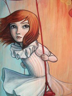 """Swinging Above (zoom)"" par Kelly Vivanco"