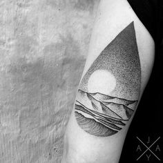 And you can get as detailed as you want. | 33 Stunning Landscape Tattoos That Will Remind You Of Home