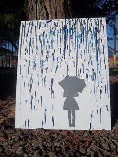 Melted Crayon Rain Art