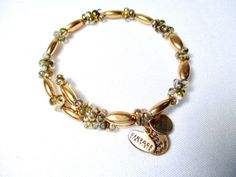 Rare Alex and Ani Vintage 66 Bracelet Wrap Charms Gold Tone Beads C #ALEXANDANI #Wrap