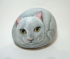 Custom order for megan, painted rock portrait.