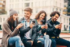 Surfing the net in the city royalty-free stock photo
