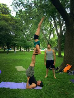 #acroyoga I love it so much! Talk about challenging yourself every day.