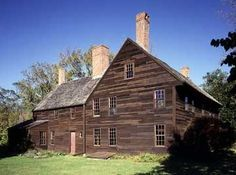 Coffin House was occupied by the Coffin family over three centuries, and provides fascinating insight into domestic life in rural New England.  Newbury, Mass. 1678