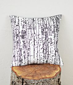 Betula Pillow Cover by Plumed on Etsy