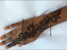 Gulf Style Henna Mehndi by Toronto, ON Henna Artist of Mocha Henna - YouTube