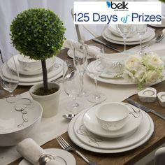 Enter now for your chance to win an elegant 8-piece china set! #belk125