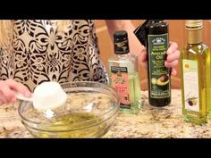 DIY Hot Oil Treatment, almond oil and avacado oil from Vitacost