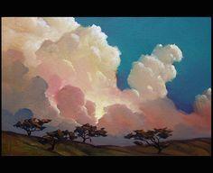 Art Painting Oil Original American Impressionist tonalist Landscape HAWKINS