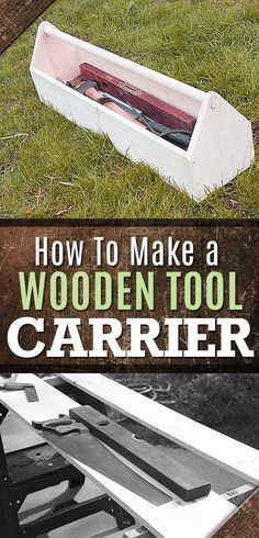 Awesome Crafts for Men and Manly DIY Project Ideas Guys Love - Fun Gifts, Manly Decor, Games and Gear. Tutorials for Creative Projects to Make This Weekend | How to Make a Wooden Tool Carrier | http://diyjoy.com/diy-projects-for-men-crafts