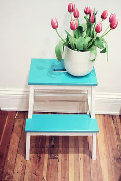 re-painted step stool from ikea. by Sandra Beijer, via Flickr