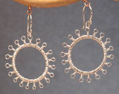 Kashmir 1 Tiny loops wrapped around hammered by CalicoJunoJewelry
