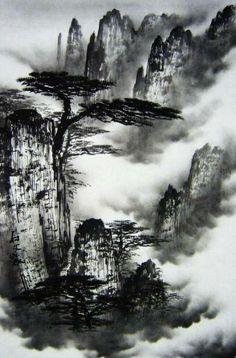 tinta china paisaje MI PAISAJE