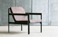 Moderner Sessel aus Metall und Leder CARGO II HEERENHUIS MANUFACTUUR