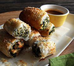 spinach & feta rolls.