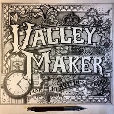 Valley Maker Album Cover by Brandon Paul, via Behance