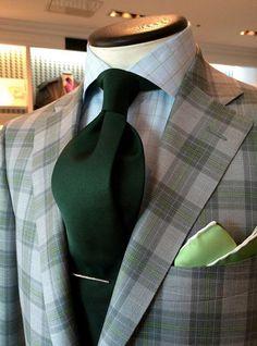 dormeuil:  A dash of moss green in a wool & silk Dorsilk jacket. Perfect for summer!