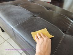 The Painted Table Boutique: YES! You can! - Paint A Faux Leather Piece of Furniture