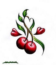 55 Cherry Tattoo Designs Their Hidden Meaning With Regard To Cherry Tattoo Regarding Body Tattoo Tattoos Skull, Pin Up Tattoos, Sexy Tattoos, Cute Tattoos, Beautiful Tattoos, Flower Tattoos, Picture Tattoos, Body Art Tattoos, Tattoo Drawings